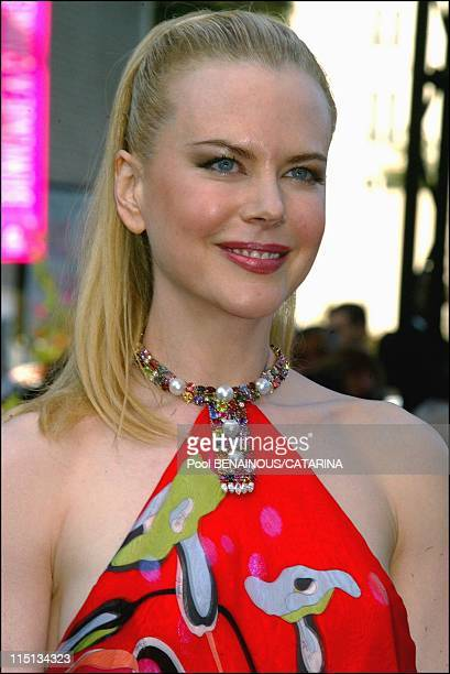 56th Cannes Film Festival Stairs of 'Dogville' in Cannes France on May 19 2003 Nicole Kidman