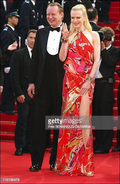 56th Cannes Film Festival Stairs of 'Dogville' in Cannes France on May 19 2003 Nicole Kidman Stellan Skarsgard