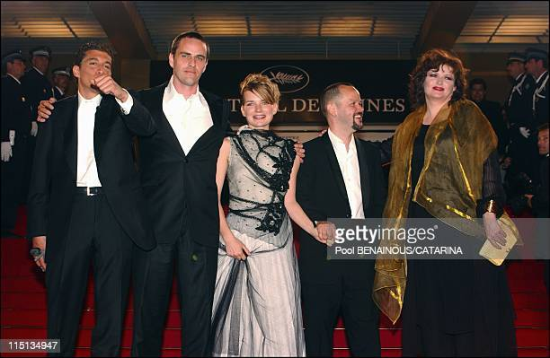 56th Cannes Film Festival Stairs of 'Qui a tue Bambie ' in Cannes France on May 17 2003 Catherine Jacob Laurent Lucas Sophie Quinton