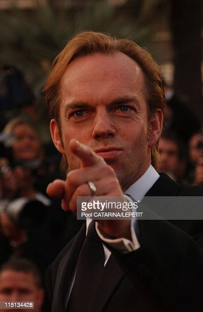 56th Cannes Film Festival Stairs of 'The Matrix reloaded' in Cannes France on May 15 2003 Hugo Weaving