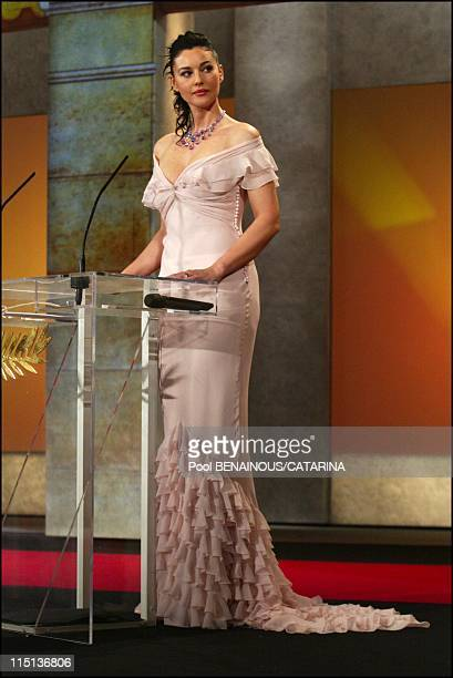 56th International Cannes Film Festival Palm awards ceremony in Cannes France on May 25 2003 Monica Bellucci