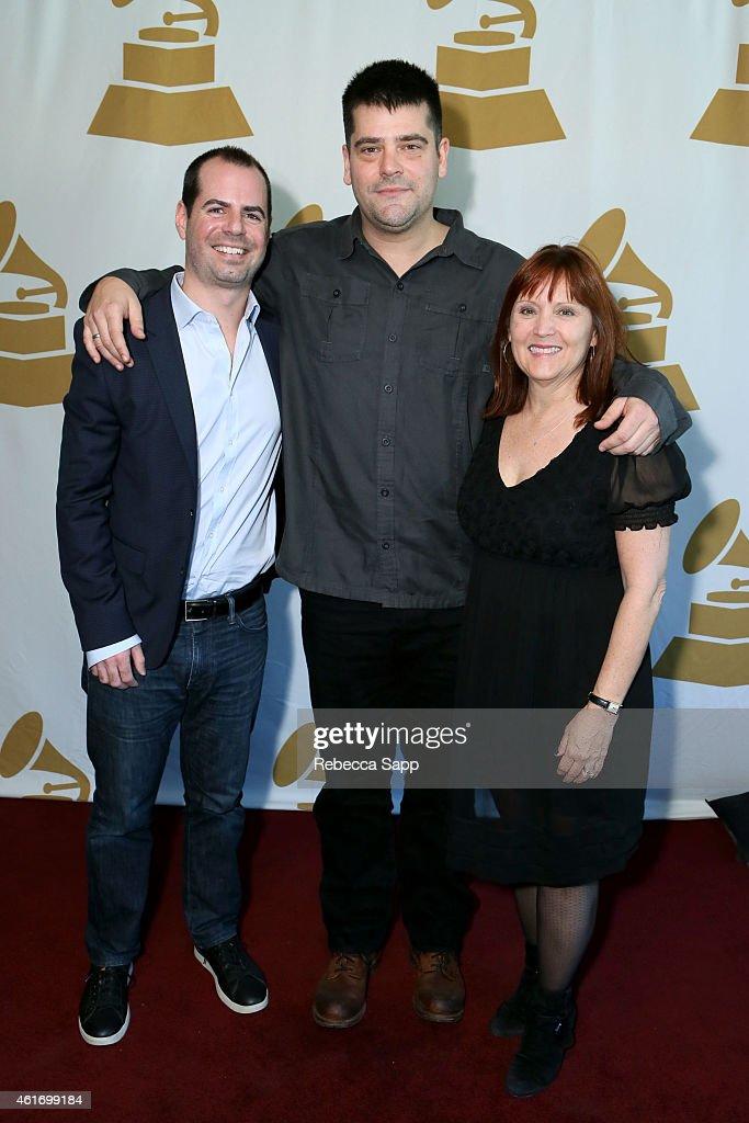 57th Annual GRAMMY Awards nominees Adam Ellison Nimrod Antal and Charlotte Huggins attend Los Angeles GRAMMY Nominee Celebration LA Chapter on...