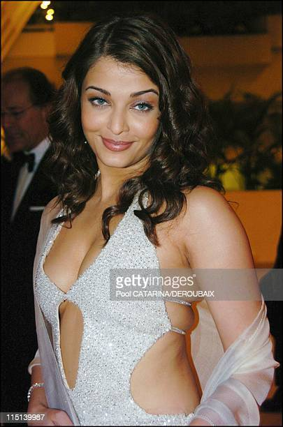 57th Cannes Film Festival arrivals for the opening dinner France on May 12 2004 Aishwarya Rai