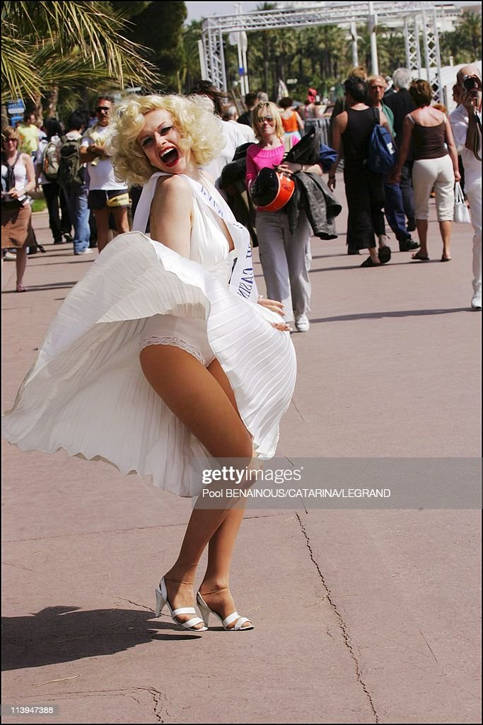 58th Cannes Film Festival Illustration 'la Croisette s'amuse' In Cannes France On May 12 2005Marilyn on the Croisette