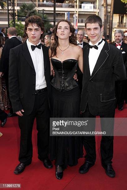 58th Cannes Film Festival Stairs of 'Joyeux Noel' in Cannes France On May 16 2005Pierre Perrier Salome Stevenin and Johan Libereau