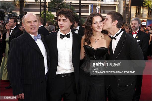 58th Cannes Film Festival Stairs of 'Joyeux Noel' in Cannes France On May 16 2005JeanFrancois Stevenin Pierre Perrier Salome Stevenin and Johan...