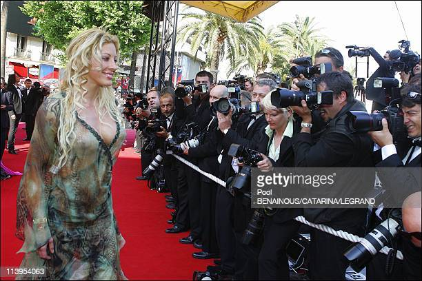 58th Cannes Film Festival Stairs of 'The Three Burials of Melquiades Estrada' In Cannes France On May 20 2005Loana