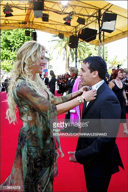 58th Cannes Film Festival Stairs of 'The Three Burials of Melquiades Estrada' In Cannes France On May 20 2005Loana and Faudel