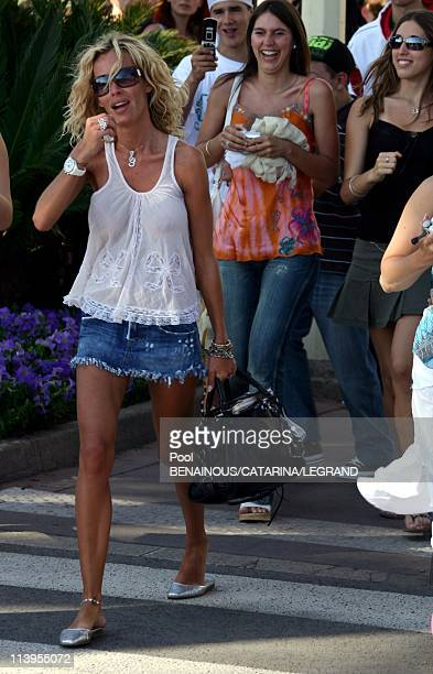 59th Cannes Film Festival EXCLUSIVE Ophelie Winter signing autographs in front of the Martinez hotel in Cannes France on May 27 2006