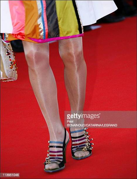 59th Cannes Film Festival Fashion details on the red carpet in Cannes France on May 23 2006Tonie Marshall