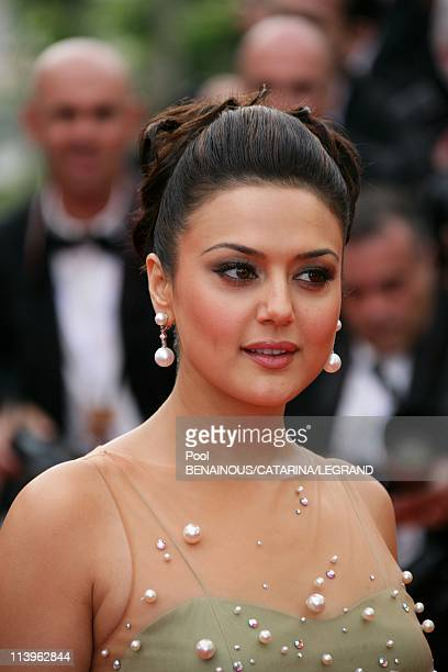 59th Cannes Film Festival Stairs of 'The wind that shakes the Barley' in Cannes France On May 17 2006Actress Preity Zinta