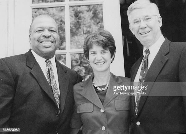 59th Governor of Maryland Parris Glendening politician and Maryland congressional representative Elijah Cummings and Kathleen Kennedy 1995