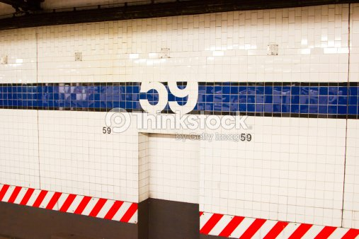 59th Street Subway Station NYC Stock Photo