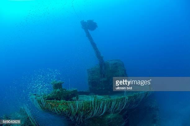 5inch Gun at Destroyer USS Lamson Marshall Islands Bikini Atoll Micronesia Pacific Ocean