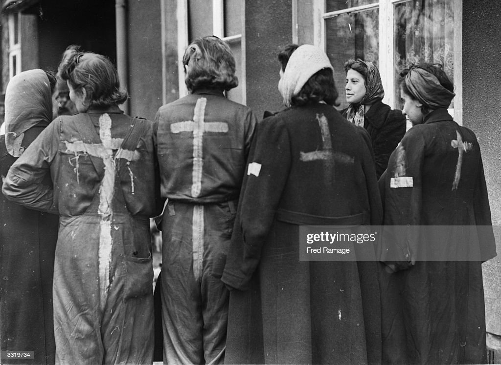 a group of liberated jewish girls who were used as slaves in a munition factory at the nazi. Black Bedroom Furniture Sets. Home Design Ideas