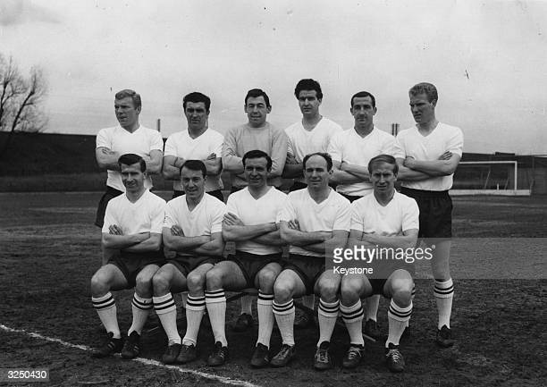 The England football team Bobby Moore Bobby Smith Gordon Banks Maurice Norman Gerry Byrne and Ron Flowers Bryan Douglas Jimmy Greaves Jimmy Armfield...