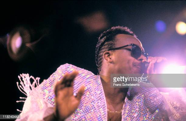 Rapper MC Hammer performs live on stage at Ahoy in Rotterdam Netherlands on 5th April 1991