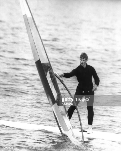 Prince Edward windsurfing off Cowes the Isle of Wight