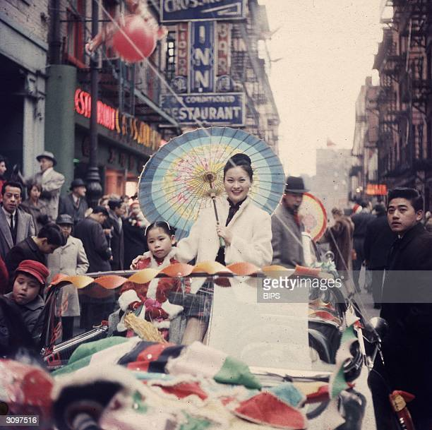 A Chinese New Year's parade through the streets of Chinatown New York during the Year of the Rat