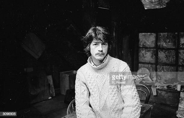 English actor John Hurt on set at the Garrick Theatre