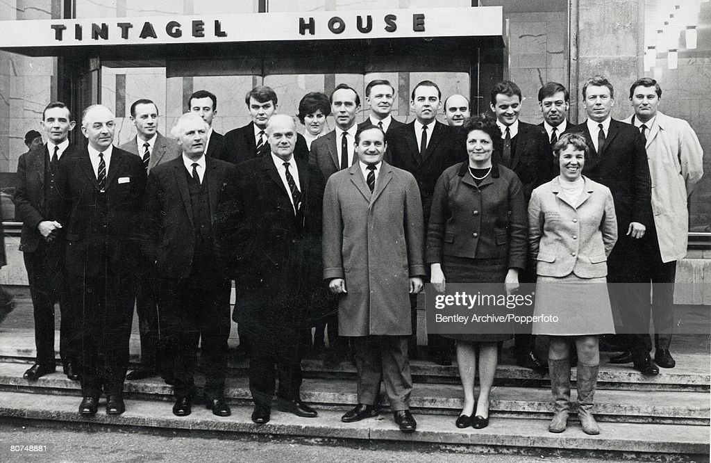 5th March 1969, London, England, Detective Superintendent 'Nipper' Read (front row, 4th from left), the policeman who investigated and brought to trial the Kray twins pictured here with the other officers on the case