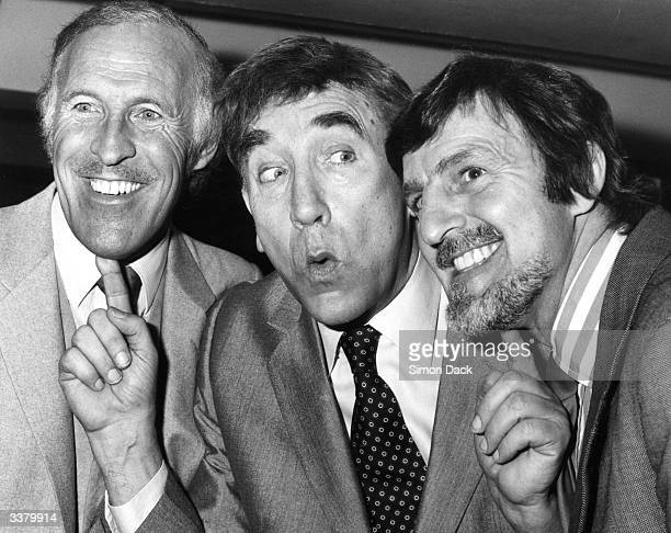 Television personalities Bruce Forsyth Frankie Howerd and Jimmy Hill together during a Variety Club dinner in honour of Frankie Howerd's showbiz...