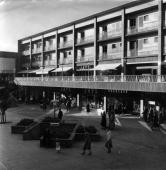 New shops flats and a square in the city centre of Coventry part of the reconstruction after the air raid of November 1940 which destroyed the...