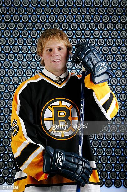 5th overall pick Phil Kessel of the Boston Bruins poses for a portrait backstage at the 2006 NHL Draft held at General Motors Place on June 24 2006...