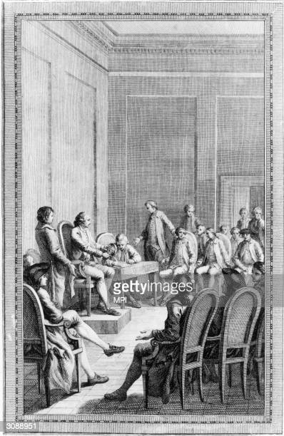 The first Continental Congress is held in Carpenter's Hall Philadelphia to define American rights and organise a plan of resistance to the Coercive...