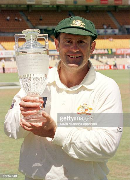 5th test Australia v England in Sydney 5199 Aussie Captain MARK TAYLOR with the Ashes replica urn