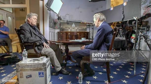 WASHINGTON SEPTEMBER 6 60Minutes Charlie Rose interviews Steve Bannon in Washington DC at Breitbart offices