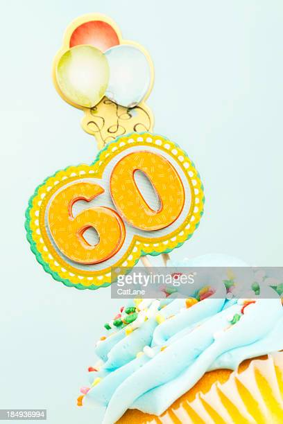 60th Birthday Cupcake