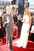 Model Heidi Klum Access Hollywood host nancy O'Dell at the 60th annual Primetime Emmy awards Photo by Trae Patton/NBCU Photo Bank Photo by Trae...
