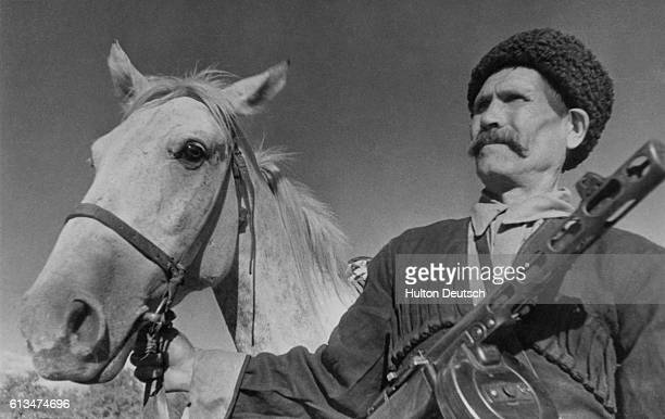 60year old Cossack Pavel Kamnev of the Krasnodar territory who was awarded the Order of Lenin for his bravery