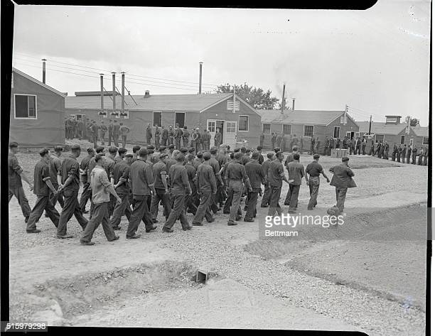 6/12/43Camp Breckinbridge Kentucky Camp Breckinbridge is one of the many internment areas in this country which houses German prisoners of war Photos...
