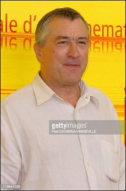 61st Venice Film Festival Arrivals and Photo call of 'Shark Tale' In Venice Italy On September 10 2004Actor Robert de Niro