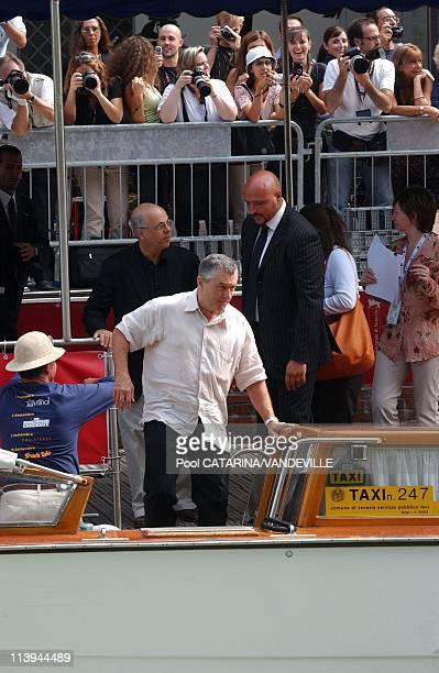 61st Venice Film Festival Arrivals and Photo call of 'Shark Tale' In Venice Italy On September 10 2004Robert de Niro
