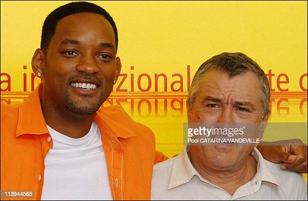 61st Venice Film Festival Arrivals and Photo call of 'Shark Tale' In Venice Italy On September 10 2004Will Smith and Robert de Niro