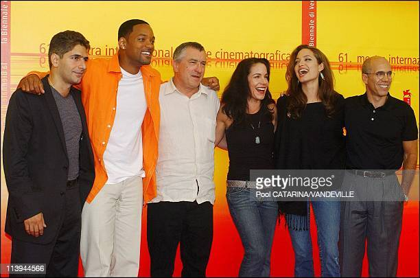 61st Venice Film Festival Arrivals and Photo call of 'Shark Tale' In Venice Italy On September 10 2004Actors Robert de Niro Will Smith and Angelina...