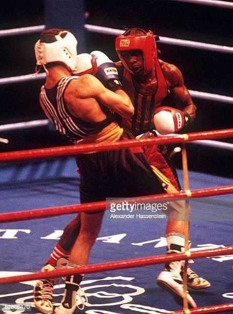 BOXEN 635kg Finale ATLANTA 1996 4896 GOLD fuer Hector VINENT//CUB SILBER fuer Oktay URKAL/GER