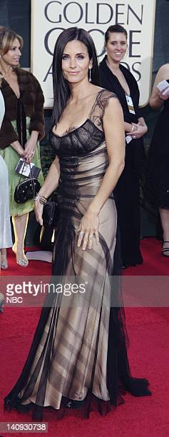 64th ANNUAL GOLDEN GLOBE AWARDS Pictured Courteney Cox arrives at the 64th Annual Golden Globe Awards held at the Beverly Hilton Hotel on January 15...