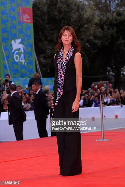 64th Venice Film Festival Premiere of the film 'I'm not there' with Richard Gere Heath Ledger and Charlotte Gainsbourg In Venice Italy On September...