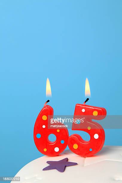 65th Birthday candles