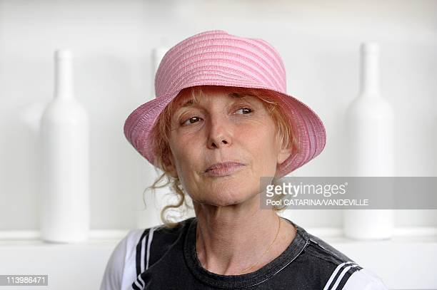 65th Venice International Film Festival Close up of French director Claire Denis In Venice Italy On August 30 2008