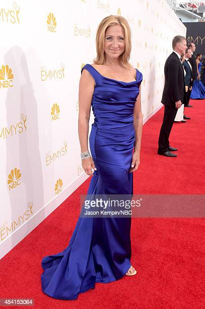 66th ANNUAL PRIMETIME EMMY AWARDS Pictured Actor Edie Falco arrives to the 66th Annual Primetime Emmy Awards held at the Nokia Theater on August 25...