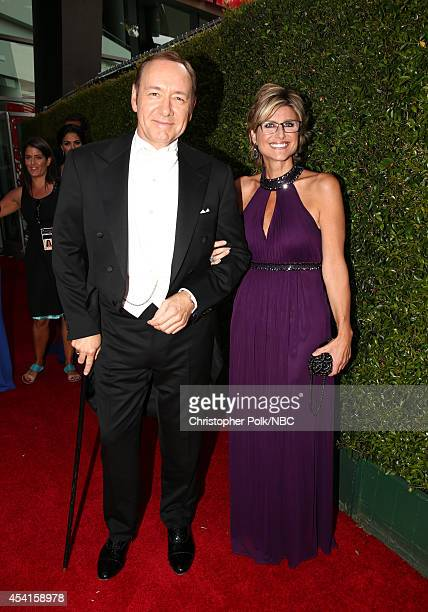 66th ANNUAL PRIMETIME EMMY AWARDS Pictured Actor Kevin Spacey and TV personality Ashleigh Banfield arrive to the 66th Annual Primetime Emmy Awards...