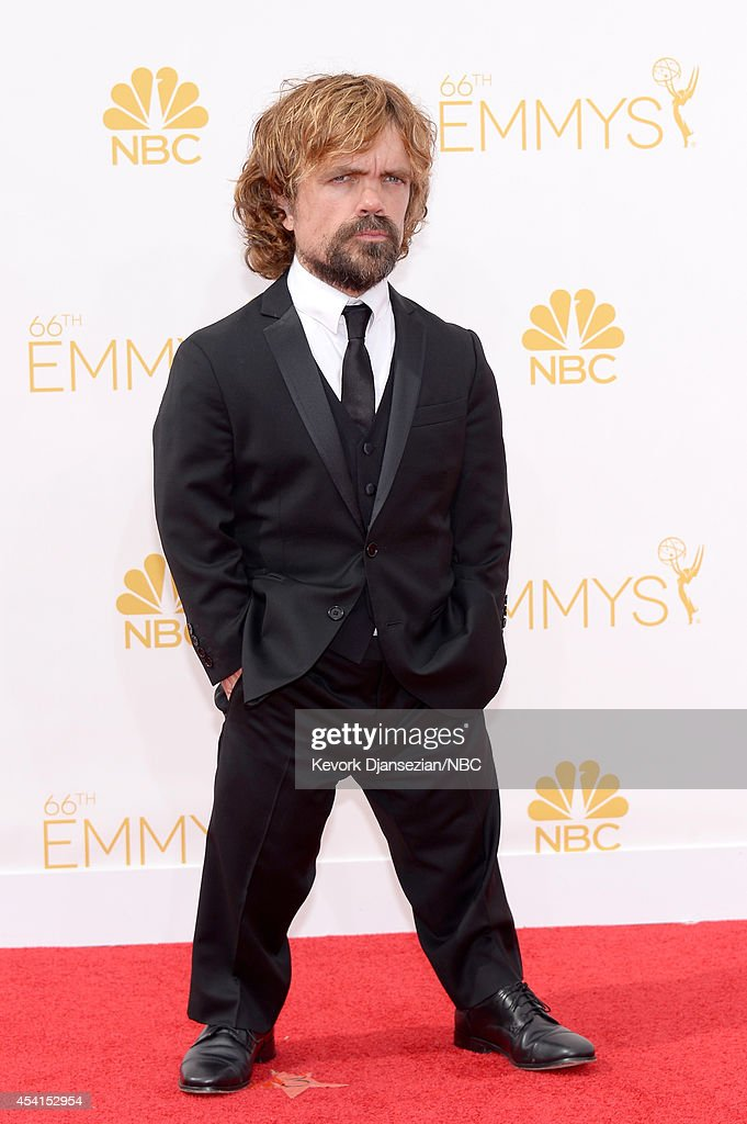 66th ANNUAL PRIMETIME EMMY AWARDS Pictured Actor Peter Dinklage arrives to the 66th Annual Primetime Emmy Awards held at the Nokia Theater on August...