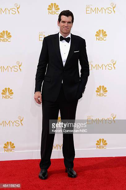 66th ANNUAL PRIMETIME EMMY AWARDS Pictured Actor Timothy Simons arrives to the 66th Annual Primetime Emmy Awards held at the Nokia Theater on August...