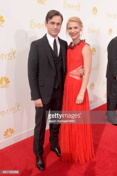 66th ANNUAL PRIMETIME EMMY AWARDS Pictured Actors Claire Danes and Hugh Dancy arrive to the 66th Annual Primetime Emmy Awards held at the Nokia...