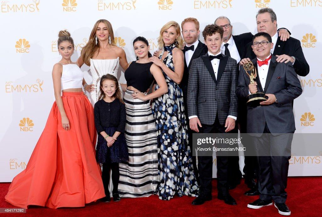 66th ANNUAL PRIMETIME EMMY AWARDS Pictured Actors Sarah Hyland Sofia Vergara Aubrey AndersonEmmons Ariel Winter Julie Bowen Jesse Tyler Ferguson...